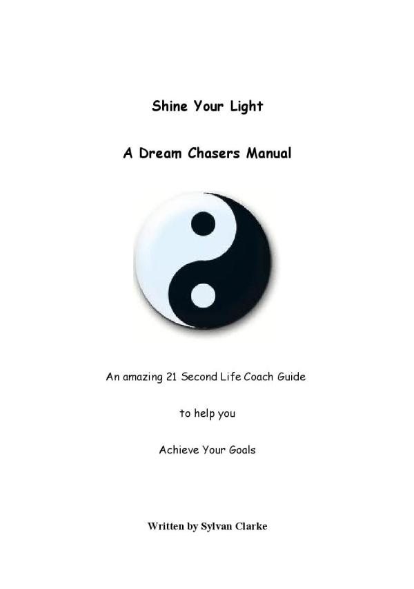 Front Cover - Shine Your Light - A Dream Chasers manual-Sylvan Clarke-page-001